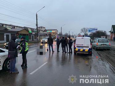 У Борисполі поліцейське авто збило на смерть чоловіка (ФОТО)