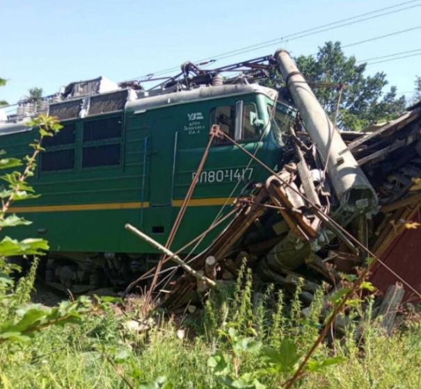 Український потяг зійшов з рейок