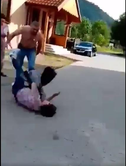 На Львівщині депутат райради жорстоко побив жінку(ВІДЕО)