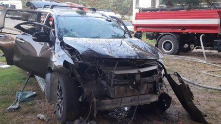 Джип на Львівщині рознесло вибухом, в салоні знайшли тіло (фото)