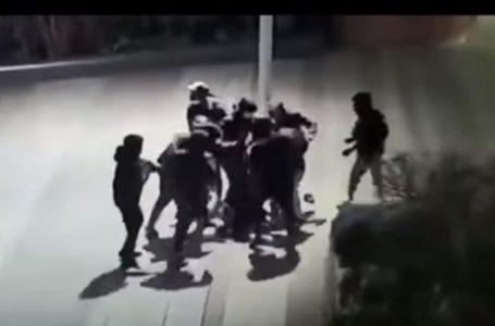 Вдесятьох на одного: з'явилося відео звірячого побиття 14-річного українця в Парижі (18+)